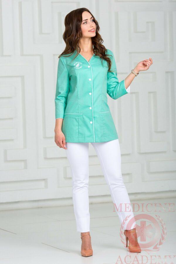 блуза салатовая медицинская одежда