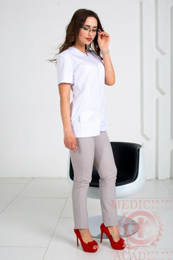 Блуза с длинной молнией пф015