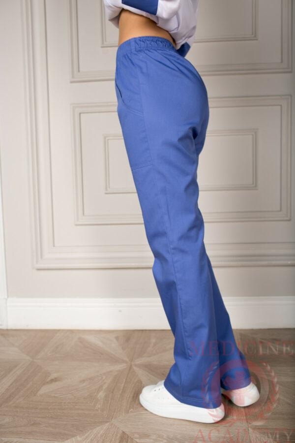 Брюки на резинке фиолетовые пф025ф