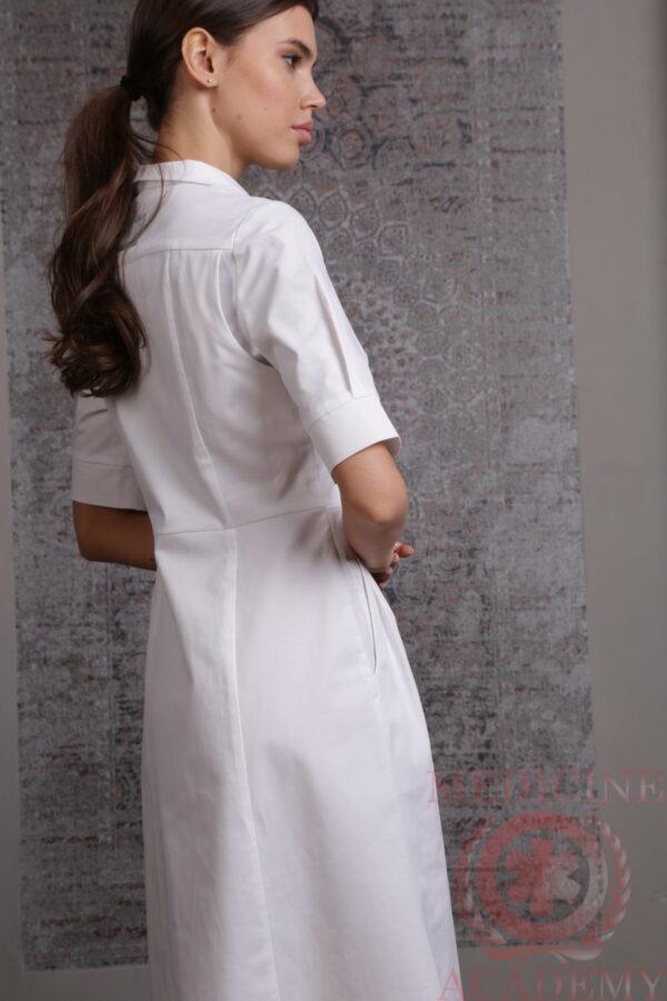 Белое платье «Диор» на кнопках пф035бк 77ma.ru