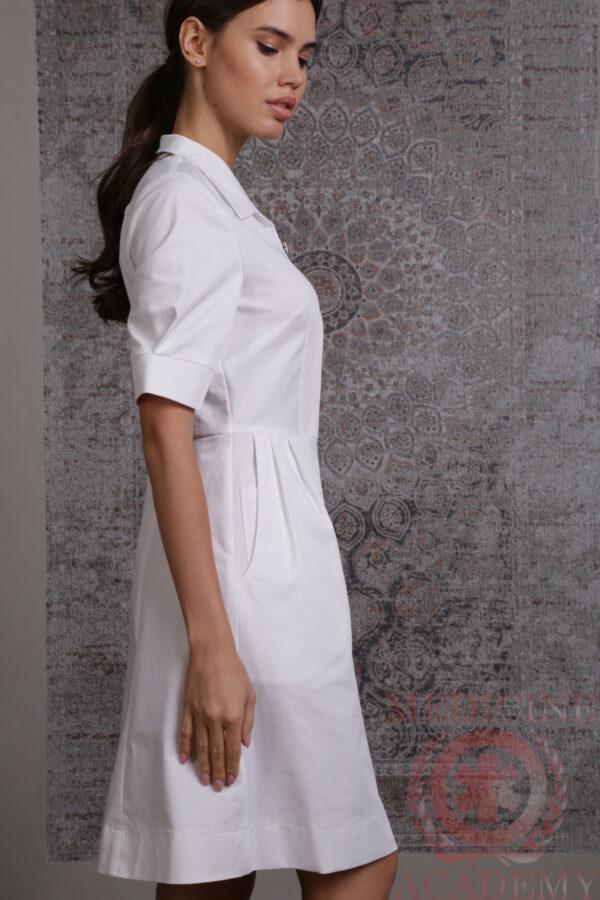 Белое платье «Диор» на молнии пф035бм 77ma.ru Medicine-Academy