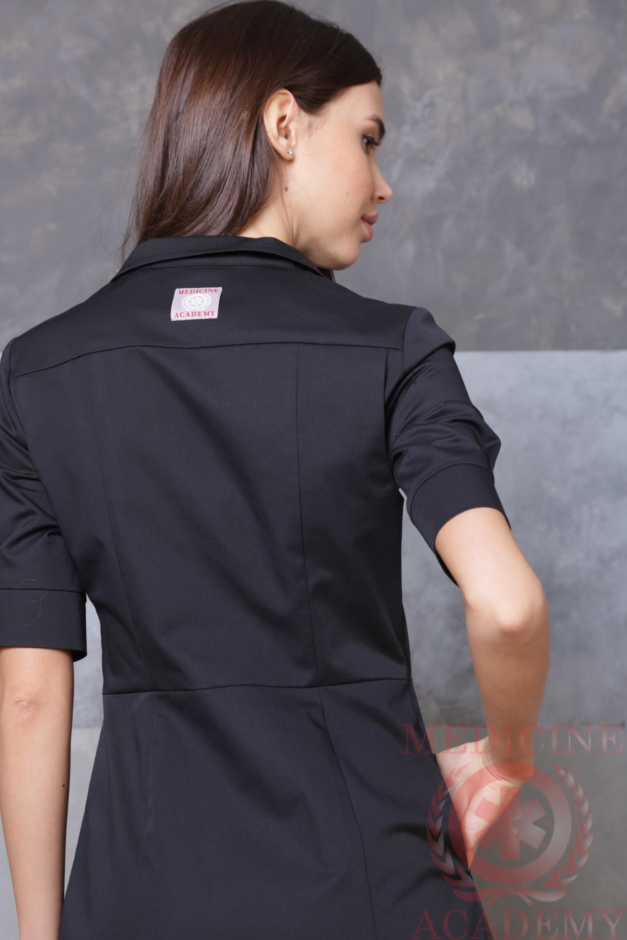 Черное платье «Диор» на молнии пф035чм 77ma.ru