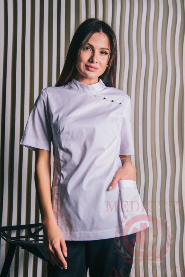 Блуза белая Китай пф109б 77ma.ru