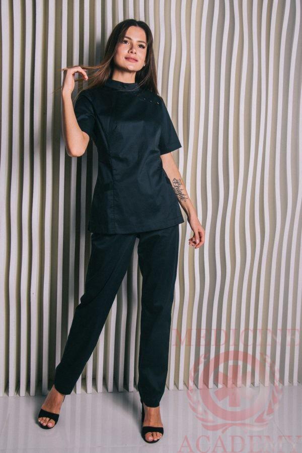 """Блуза черная """"Китай"""" пф109ч 77ma.ru"""