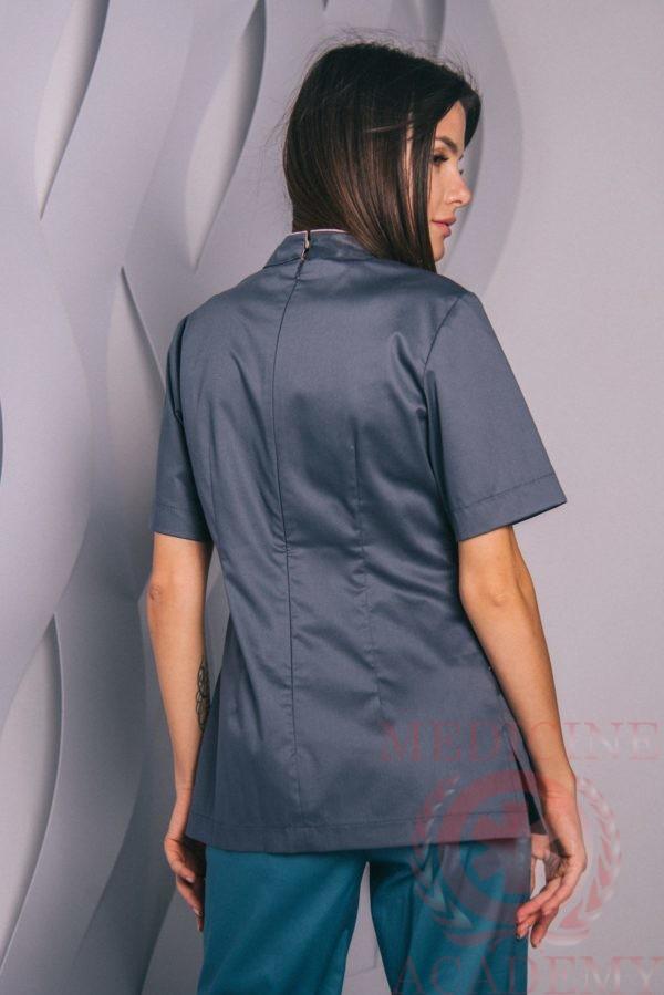 Блуза темно-серая «Китай» пф109тс 77ma.ru