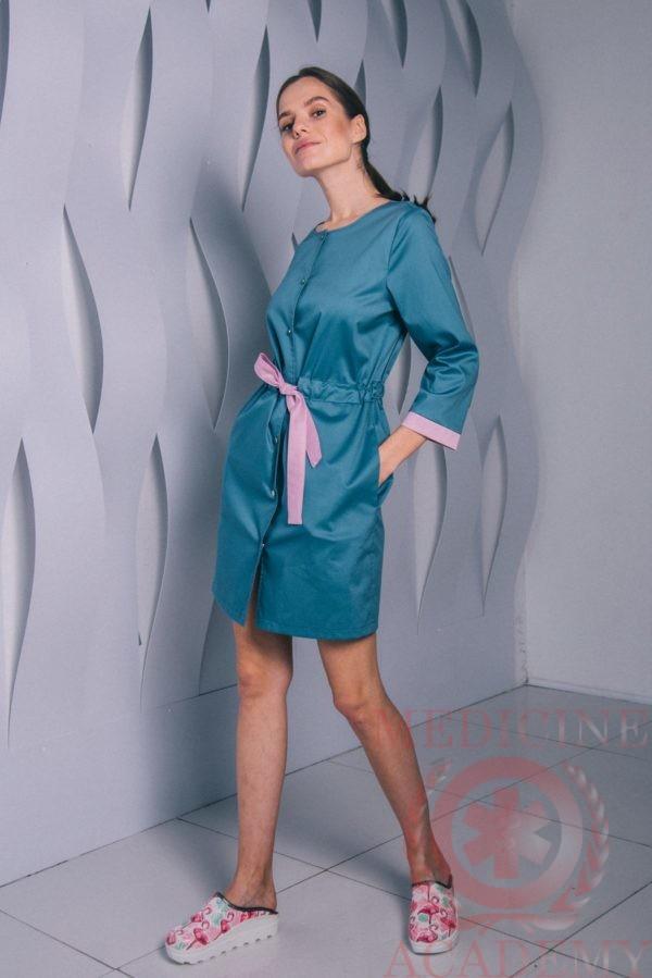 Платье с кулиской на кнопках лунное пф042н 77ma.ru
