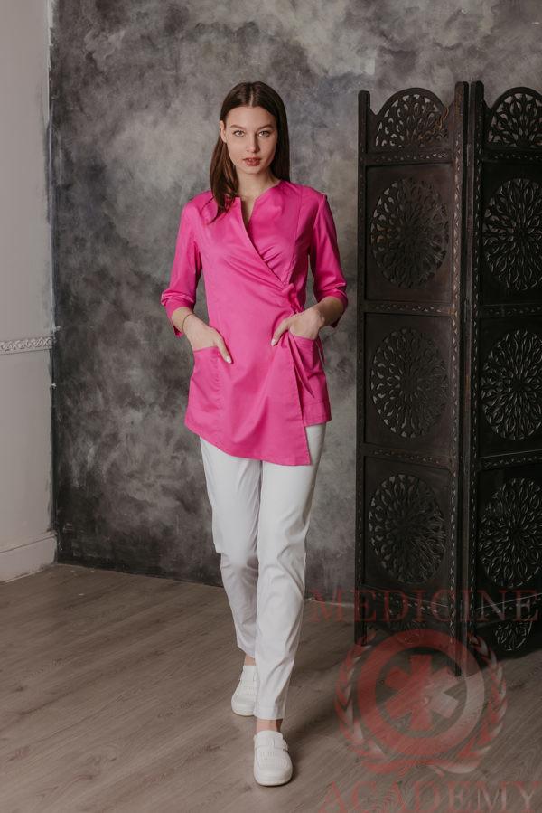 Блуза с запахом асимметрия