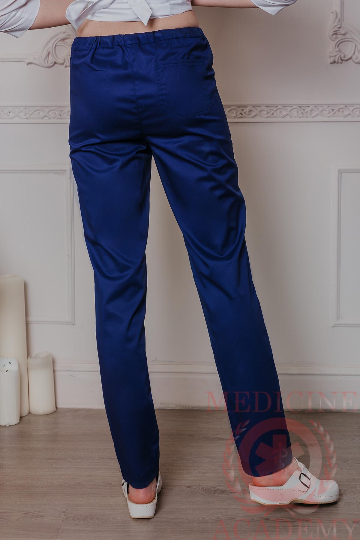 Медицинские брюки зауженные ПФ112синие