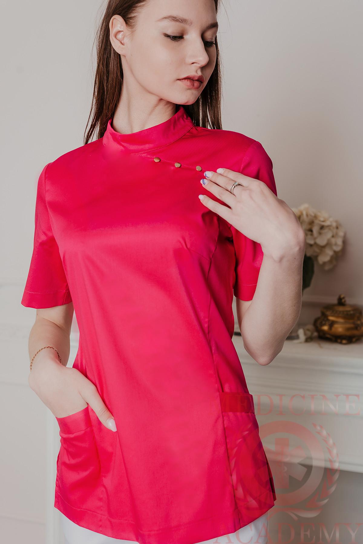 Блуза пф109ярко-розовая «Китай»