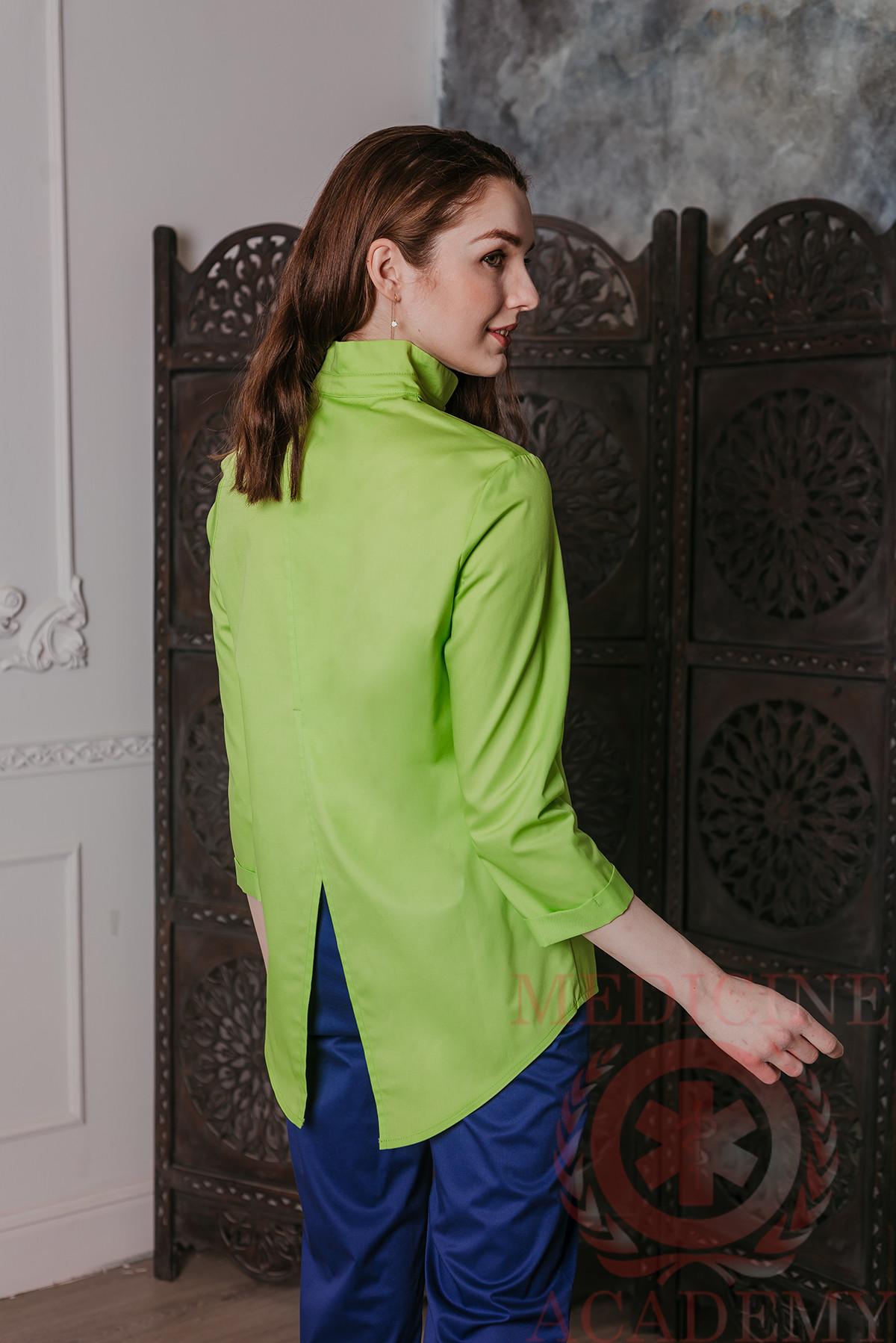 """Блуза """"ласточкин хвост"""" лайм"""