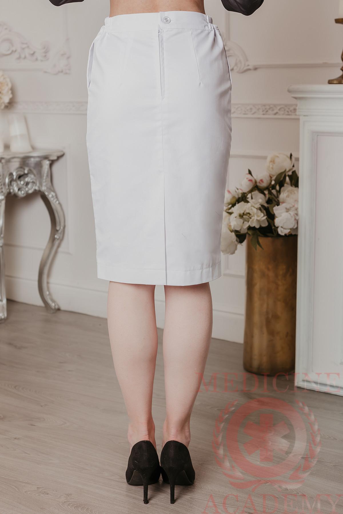 Медицинская юбка на подкладе белая