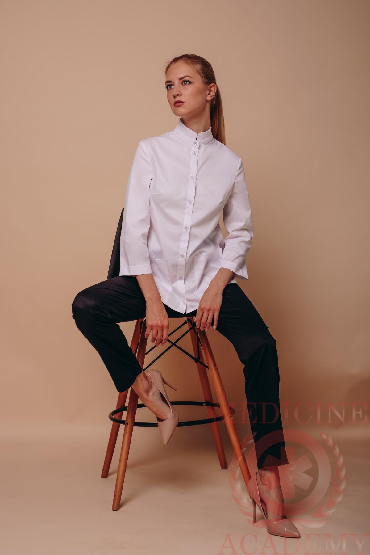 "Блуза ""ласточкин хвост"" белая"