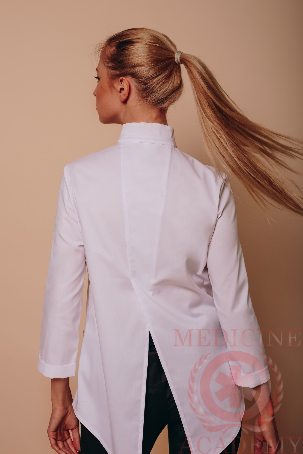 "Медицинская блуза ""ласточкин хвост"" белая"