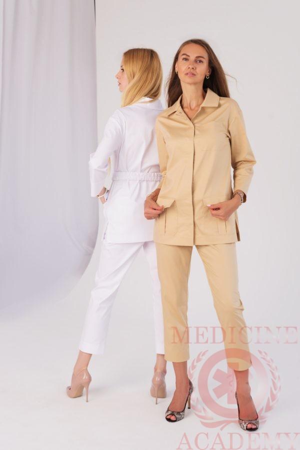 Куртка сафари белая